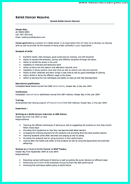 Dancer Resume Examples Business Attorney Cover Letter