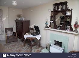 Old Style Living Room Old Fashioned Living Room British 1950s Style Stock Photo