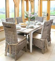 white dining table 6 chairs image of good wicker dining room chairs arctic white extending black
