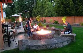 outdoor patio fire pit furniture table