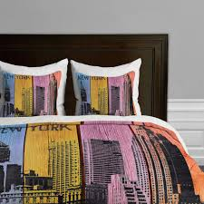 new york city themed skyline bedding by deny