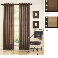 bamboo curtain panels sliding door
