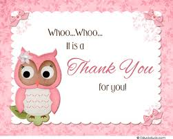 Owl Baby Shower Cards  Pink Feathers Pink Matching Thank YouOwl Baby Shower Thank You Cards