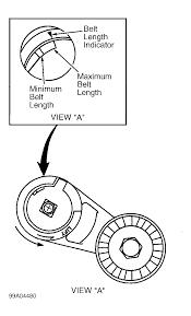 2001 ford windstar serpentine belt diagram large size