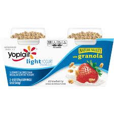 yoplait light yogurt with granola strawberry 12 oz 2 count walmart