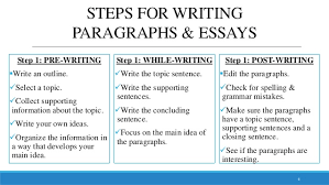 paragraph essay 7 8 steps for writing paragraphs essays
