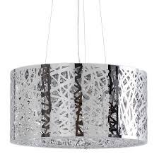 jena 7 light ceiling light polished chrome