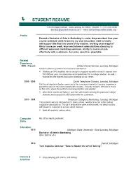 Free Resume Templates No Download For Students 10 High School 3