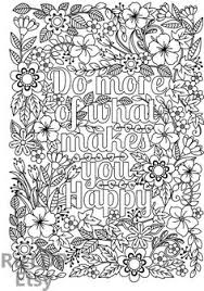 Small Picture Printable Everyday is a Second Chance flower design Coloring