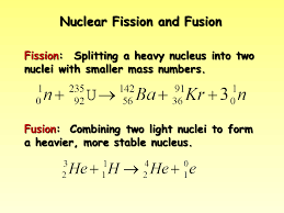 nuclear fission and fusion presentation chemistry sliderbase