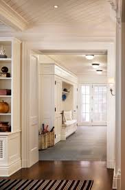 Family Room Looking Through to Mudroom - A Summer Cottage in the Hamptons -  John B