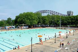 the outdoor pool at astoria park