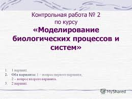 Презентация на тему Контрольная работа по курсу Моделирование  1 Контрольная работа