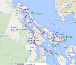 Boat Camping In Gulf Islands British Columbia