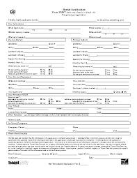 Application Form For Rental Minnesota Rental Application Form Pdfsimpli
