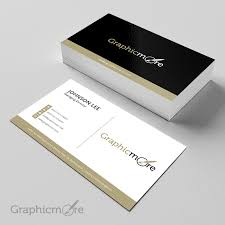 Black Gloden Creative Business Card Template Design Free Psd File