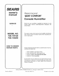 kenmore quiet comfort. owner\u0027s, manual, kenmore | sears quiet comfort 758.144120 user manual page 12 / f