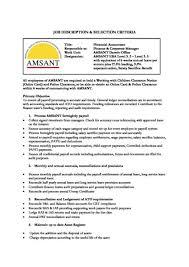 Payroll Accounting Job Description Financial Accountant Amsant