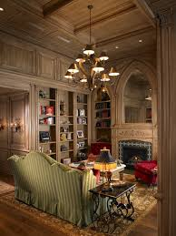 Wood Paneled Study at The Tourmaline by Alvarez Homes (813) 701-3299  mediterranean