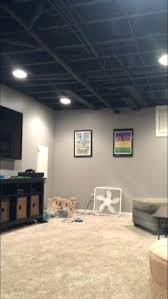 painted basement ceiling ideas. Lovely Basement Painting Ideas Painted Ceiling Black Exposed .