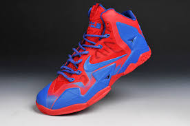 lebron shoes superman. 2014 newest basketball shoes cheap lebron 11 clippers solar red blue superman i