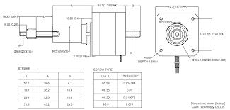 linear actuator linear stepper motor nema 17 linear actuator 17c rh osmtec nema 17 stepper motor wiring diagram
