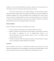 problem solving strategy and students achievements on the concept of 26 resulting