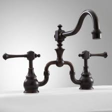 oil rubbed bronze bridge kitchen faucet sevenstonesinc