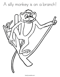 Small Picture Chimpanzee Coloring Page Twisty Noodle