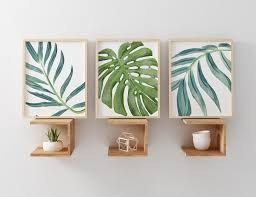 banana leaves palm fronds tropical design palm frondstropical designbanana leaveswall art setsbananaspalmsplants on tropical wall art sets with banana leaves palm fronds tropical design banana leaves palm