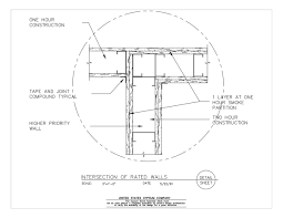 09 21 16 1110 gypsum board embly parion intersections intersection of rated walls detail