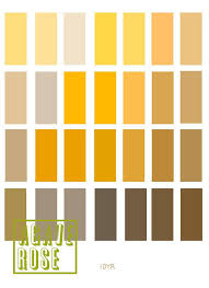 Munsell Chart Art Archaeology Print Color Yellow