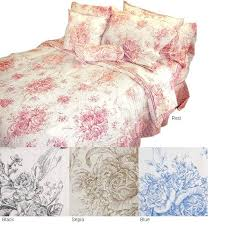 red toile bedding duvet cover set red and white toile duvet