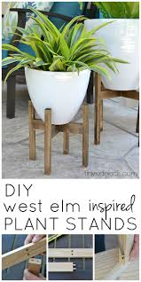 Make your own mid century modern inspired plant stands for less than 10  bucks with this