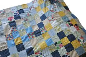 Vintage Patchwork Quilt Top - Child Crib Size - Yellows / Blues ... & Roll over Large image to magnify, click Large image to zoom Adamdwight.com