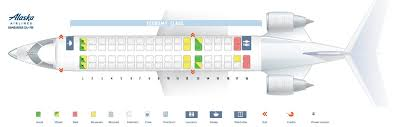Crj7 Seating Chart Alaska Airlines Fleet Bombardier Crj 700 Details And