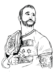 Coloring Games Wwe Pages 2018 Pictures To Color Wrestling