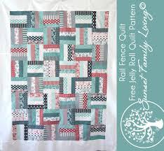 Fence Rail Quilt | Easy Beginner's Quilt Pattern | Free Jelly Roll ... & Rail fence quilt | free quilt pattern | jelly roll pattern | beginner quilt  pattern | Adamdwight.com