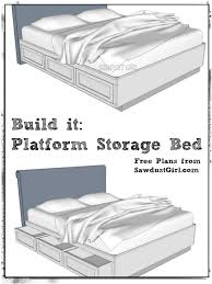 Cal King Platform Storage Bed Free Plans Storage beds Storage