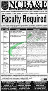 ncba e jobs multan bahawalpur rahim yar khan latest type in google search ncba e jobs
