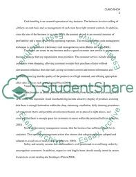 Operating A Retail Business Essay Example Topics And Well