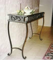 metal hall table. Attractive Metal Hall Table With