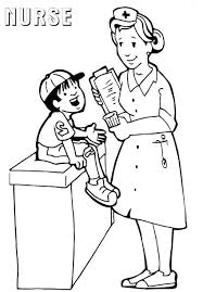 Thermometer Coloring Page Nurse Pages Male Colorin Truyendichinfo