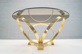 Vintage Brass U0026 Smoked Glass Coffee Table By Knut Hesterberg