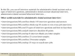 Assistant Interview Questions Dental Assistant Questions Under Fontanacountryinn Com