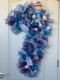 387 Best Door Decor Images On Pinterest  Christmas Ideas Candy Cane Wreath Christmas Craft