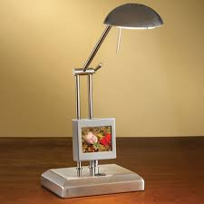 The Digital Photo Frame Lamp Hammacher Schlemmer