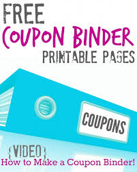 Make A Printable Coupon Everything You Need To Create Your Own Coupon Binder Including Free