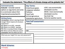 year ks geography essay assessment sheet topic climate assessment