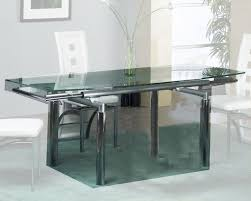 dining modern glass dining table with extension